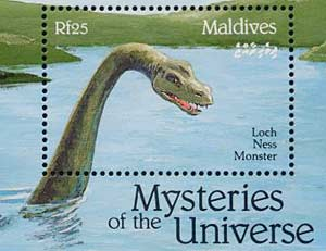 Scotland's Loch Ness Monster — a major tourist attraction — is honored with a stamp. (Paraview Press)